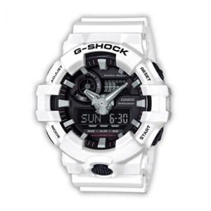שעון יד ג'י-שוק GA-700-7A- לבן