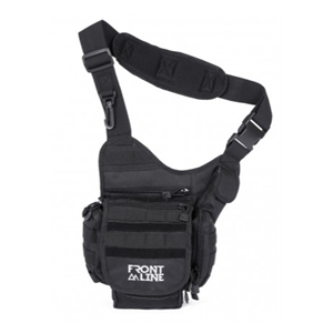 תרמיל רצועה לכתף- כרמל- שחור FrontLine