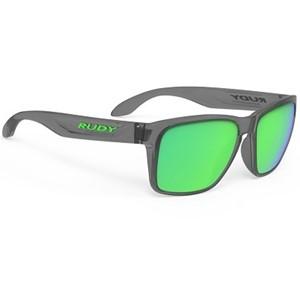 Rudy Sunglasses Spinhawk Crystal Ash Multilaser Green