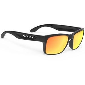 Rudy Sunglasses Spinhawk Slim Black Gloss Multilayer Orange