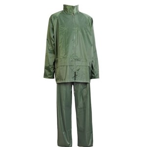 Rain Suit in olive green