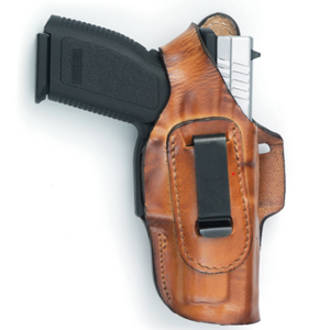 Fast-Draw Four Way Glock 19 Leather Holster brown- Frontline