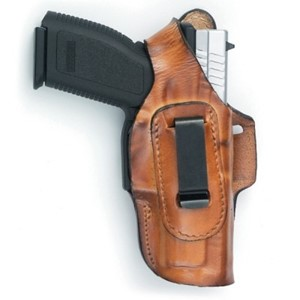 Fast-Draw Four Way Glock 42 Leather Holster- Front Line brown
