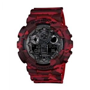Casio G-Shock Watch GA-100CM-4A- Camouflage Red
