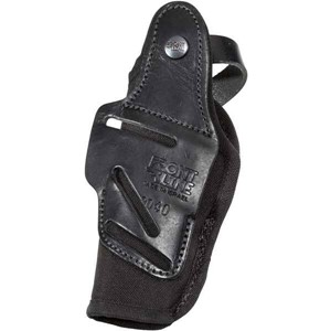 Fast-Draw Four Way Glock 26/27/28 Leather Holster- black FrontLine