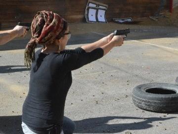 Target shooting practice